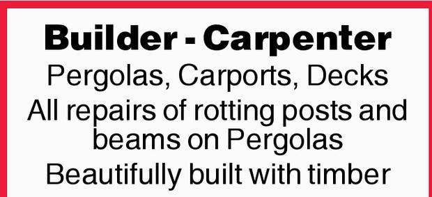 Pergolas, Carports & Decks   All repairs of rotting posts and beams on Pergolas   Bea...