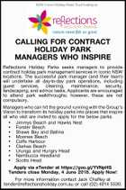 CALLING FOR CONTRACT HOLIDAY PARK MANAGERS WHO INSPIRE