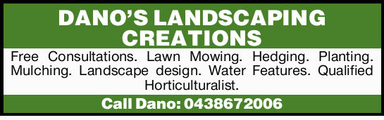 Free Consultations.   Lawn Mowing.   Hedging.   Planting.   Mulching.   Lands...