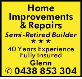 Semi-Retired Builder   40 Years Experience   Fully Insured