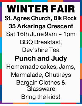 St. Agnes Church, Blk Rock  35 Arkaringa Crescent  Sat 16th June  9am - 1pm ...