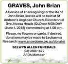 GRAVES, John Brian