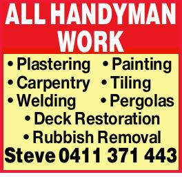 Plastering  Painting  Carpentry  Tiling  Welding  Pergolas  Dec...