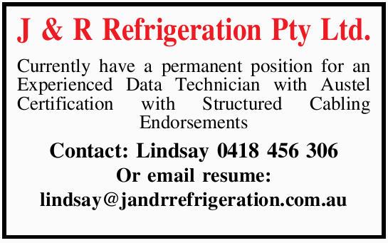J & R Refrigeration Pty Ltd. Air Conditioning & & R Refrigeration Pty Ltd. Currently...