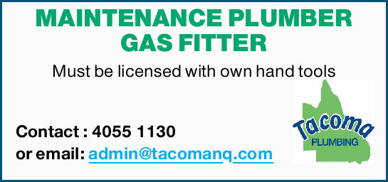 MAINTENANCE PLUMBER GAS FITTER 