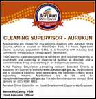 CLEANING SUPERVISOR - AURUKUN