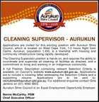 CLEANING SUPERVISOR - AURUKUN
