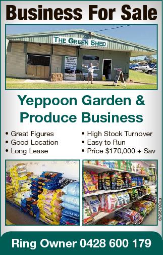 <p> Yeppoon Garden & Produce Business </p> <p> * High Stock Turnover </p> <p> *...</p>