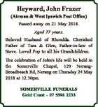 Heyward, John Frazer