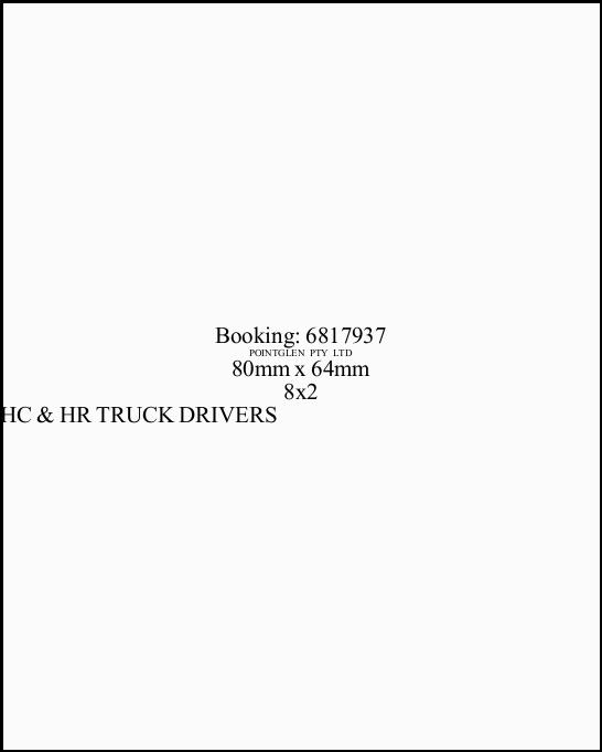 HC & HR TRUCK DRIVERS