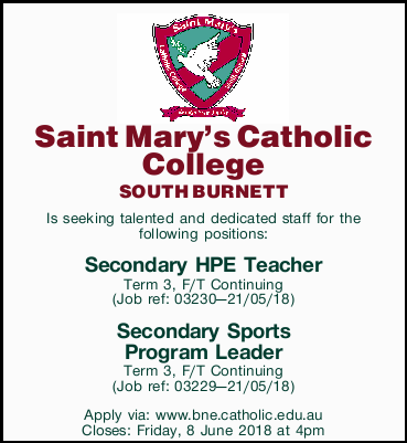 SOUTH BURNETT Is seeking talented and dedicated staff for the following positions:   Se...