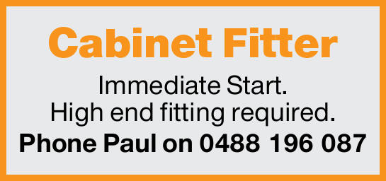 Immediate Start. High end fitting required.