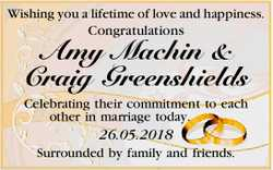 Wishing you a lifetime of love and happiness.