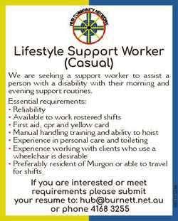 We are seeking a support worker to assist a person with a disability with their morning and evening...