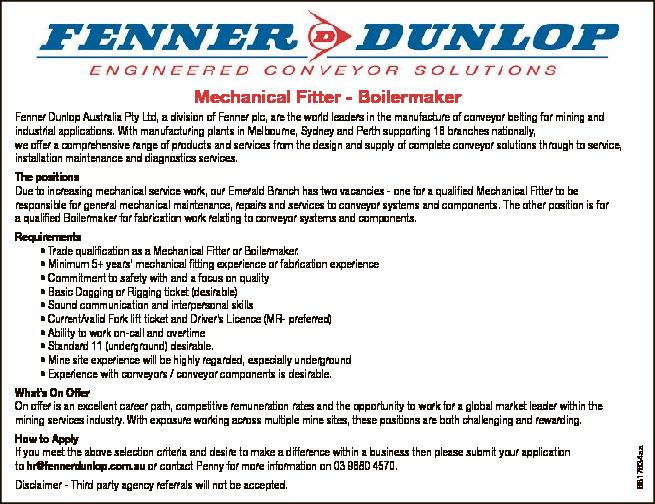 Mechanical Fitter - Boilermaker