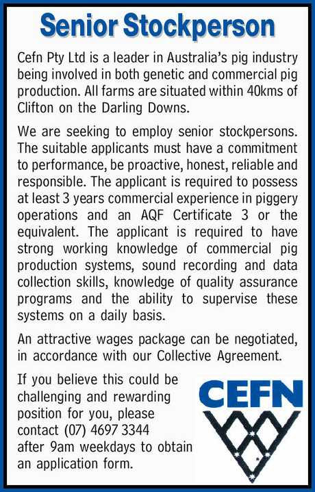 <p> <strong>Senior Stockperson</strong> </p> <p>