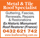 METAL & TILE ROOF SPECIALIST