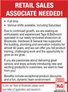 RETAIL SALES ASSOCIATE NEEDED!