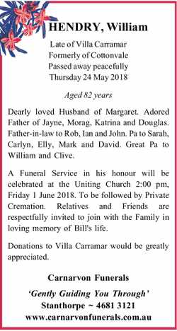 HENDRY, William