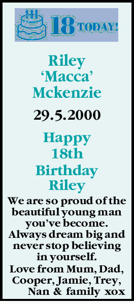 Riley `Macca' Mckenzie
