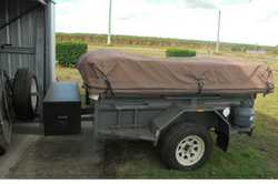 "SEMI Off Road ""Traveller"" MDC Camper, tailgate kitchen inc sink, water tank 85L, toolbo..."