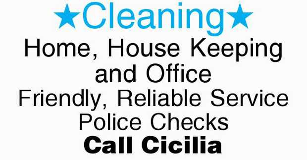 Home & Office Cleaning Services    Friendly, Reliable Service  Police Checks