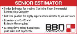 Senior Estimator for leading Sunshine Coast Commercial Construction Company
