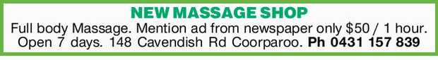 NEW MASSAGE SHOP   Full body Massage.   Mention ad from newspaper only $50 / 1 hour.  ...