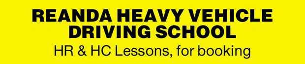 REANDA HEAVY VEHICLE DRIVING SCHOOL    HR & HC Lessons