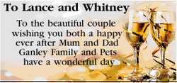 To Lance and Whitney