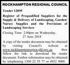 ROCKHAMPTON REGIONAL COUNCIL Tender 12895