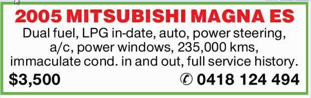Dual fuel  LPG in-date  Auto  Power steering  A/c  Power windows ...
