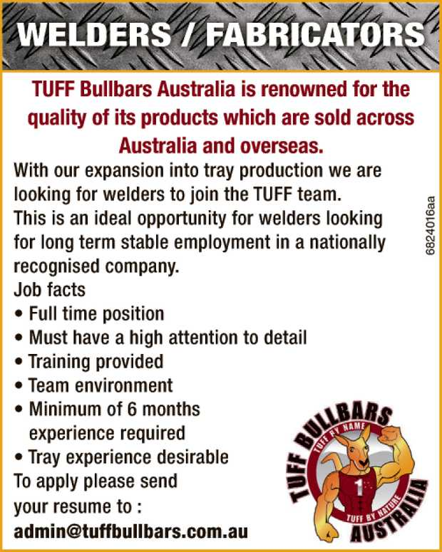 TUFF Bullbars Australia is renowned for the quality of its products which are sold across Austral...