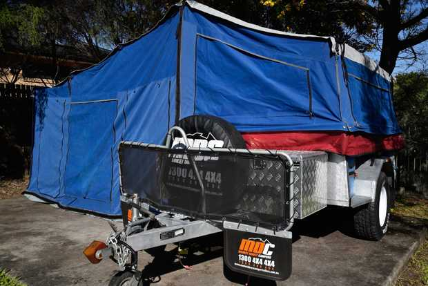 MDC GALVANIZED OFF ROAD CAMPER TRAILER Queen size bed, swing-out Kitchen, Poly Block Hitch, Heavy...
