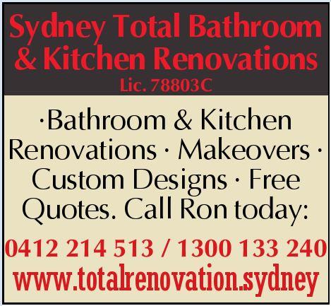 Sydney Total Bathroom & Kitchen Renovations    Lic: 78803C    Bathroom &...