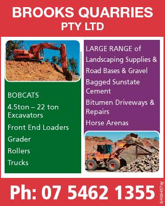 BROOKS QUARRIES PTY LTD   LARGE RANGE of Landscaping Supplies & Road Bases & Gravel ...