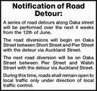Notification of Road Detour