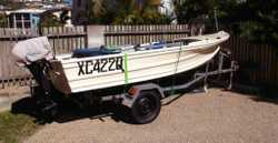 Registered, with Trailer New Suzuki Motor 15HP,