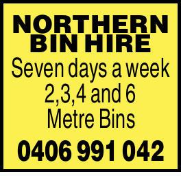 Seven Days a Week   2,3,4 and 6 Metre Bins