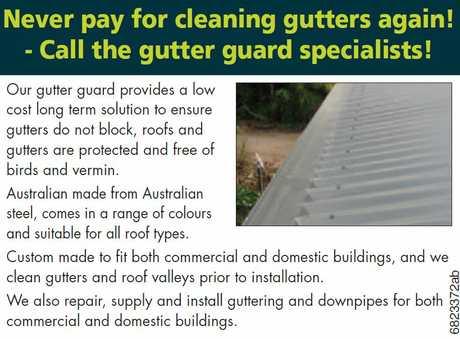 "<p align=""LEFT"" dir=""LTR""> <span lang=""EN-AU"">Never pay for cleaning gutters again!</span> </p>"