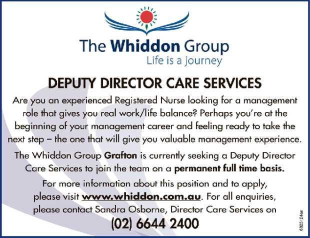 Deputy Director Care Services   Are you an experienced Registered Nurse looking for a managem...