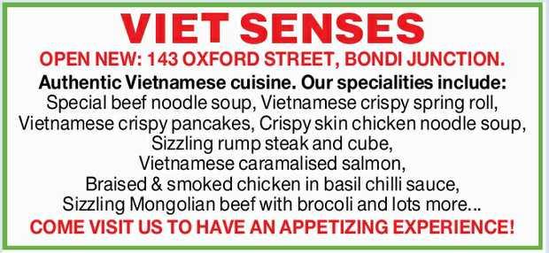 OPEN NEW: 143 OXFORD STREET, BONDI JUNCTION.    Authentic Vietnamese cuisine. Our specialitie...