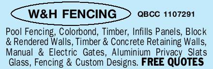<ul> <li> Pool Fencing,</li> <li> Colorbond,</li> <li> Timber,</li> <li> Infills...</li></ul>