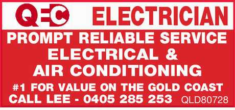 <p> ELECTRICIAN PROMPT RELIABLE SERVICE ELECTRICAL & AIR CONDITIONING #1 FOR VALUE ON THE GOLD...