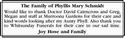 The Family of Phyllis Mary Schmidt 