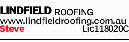 LINDFIELD ROOFING   www.lindfieldroofing.com.au   Steve   Lic118020C