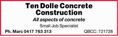 <p> <strong>All aspects of concrete</strong> </p> <p> <strong>Small Job Specialist...</strong></p>