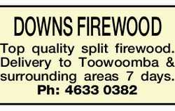 DOWNS FIREWOOD   Top quality split firewood.   Delivery to Toowoomba & surrounding ar...