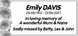 Emily DAVIS
