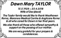 Dawn Mary TAYLOR
